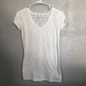 Victoria's Secret white lace tee